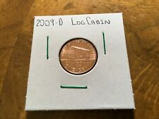 2009-D LINCOLN CENT - LOG CABIN REVERSE UNCIRCULATED single coin from bank roll