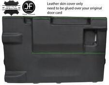 Green Stitch PORTELLONE PORTA CARD LTHR Copertura Per Land Rover Defender 90 03-17 3DR