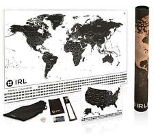 Scratch off Map of the World XL Poster -Scratch Off USA Map