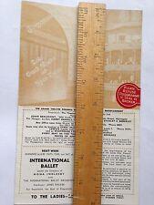 LEEDS GRAND 1948 BALLET INTERNATIONAL PROGRAMME
