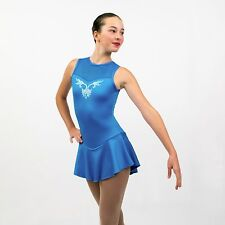 Ice Skating Figure Skating Turquoise Dress size Xsmall adult crystals applique