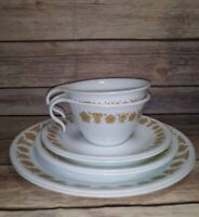 Vintage Corelle by Corning Golden Butterfly Dinnerware Set of 8