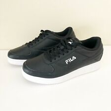 Fila A Low Basketball Lifestyle Sneakers Black White Mens Size 10 NWOT Casual