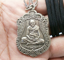 LP HONG LORD GANESHA BLESSED COIN THAI AMULET PENDANT NECKLACE LUCKY RICH GAMBLE