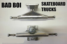 BAD BOI PAIR OF BLANK SKATEBOARD TRUCKS RAW SKATE CRUISER LONGBOARD 5.5''