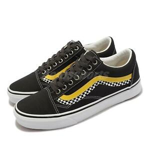 Vans Old Skool Checkerboard Black Yellow Red Men Unisex Casual Shoes VN0A3WKT4S2