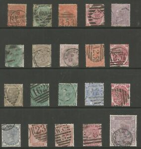 VICTORIAN SURFACE PRINTED SELECTION OF 20 GOOD TO FINE USED INC 2 USED IN MALTA