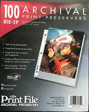 """Print File 8"""" x10"""" photo  Pages  Archival Storage Preservers, 810-2P- 70 Pages"""