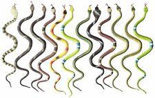 "12 Rubber Rainforest Snakes/14"" Rain Forest Snake Figures/Party Favors/Nature"