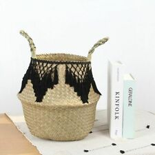 Storage Basket Wovening Bohemian Multifunctional Folding Clothes Mexican Style