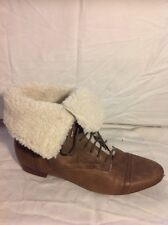 Miss Selfridge Brown Ankle Leather Boots Size 39