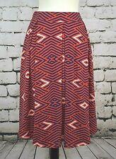 NEW NWT LuLaRoe Cotton Red White Blue Diamonds Madison Skirt XL