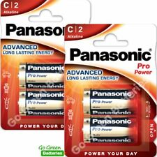 4 x Panasonic C Size Pro Power Alkaline Batteries LR14, MN1400, MX1400, BABY