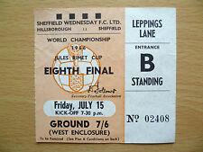 1966 World Cup Ticket URUGUAY v FRANCE, 15 July (Genuine*, Exc*)