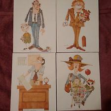 G.R.Cheesebrough Prints Signed(4) Ms.Consumer,Mr.Buyer,Mr.Salesman,Mr.Store Mgr.