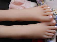 Reality Silicone Female Feet Mannequin Delicate Little Feet Display Shoessocks