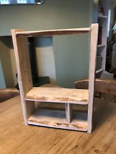 Shelf Spice Rack Rustic Country Wooden Kitchen Display Bathroom HAND MADE