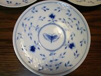 BING & GRONDAHL DENMARK 1940s 2 SALAD PLATES BLUE BUTTERFLY ORIGINAL