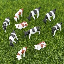 10pc 1 87 Multicolor Model Cattle Cow Farm Animal Train Model Doll House Diorama