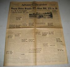 July 29 1939 Tulare CA Advance Register Newspaper Anti-Alien Bill Passed