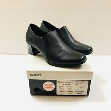 LANE BRYANT BLACK LOW ANKLE BOOTIES Size 7 W (D)