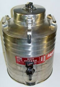 Cecilware Stainless Steel Hot Coffee Beverage Urn P&G Folgers Advertising Promo