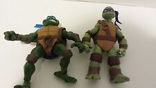 TMNT Lot - 2003 Leonardo + 2012 Donatello (Loose, No Accessories)