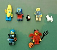 5 x LEGO Minifigure Series 16 Bundle - Banana/Devil/Dog Show/Wildlife/Cyborg