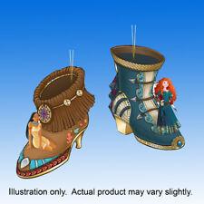 Pocahontas and Merida Set 21 Disney Once Upon a Slipper Shoe Princess Ornament