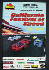 PORSCHE CLUB OF AMERICA CALIFORNIA FESTIVAL OF SPEED OFFICIAL EVENT POSTER 2002