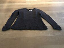 LAURIE B BLUE THICK SWEATER WITH FLARED BOTTOM WOOL BLEND SZ M