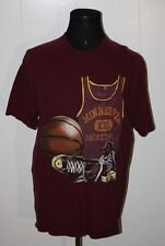 Vintage Tsi Minnesota Gophers Basketball Maroon Tee Shirt Xl