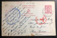 1943 Belgium To France Concentration Internment Camp de Gurs prisoner Cover