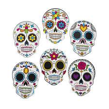 12 Halloween DAY OF THE DEAD Dia de Los Muertos SUGAR SKULL CUTOUTS Party Decor