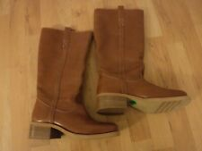 BLISS LADIES BROWN LEATHER BOOTS SIZE 6.5 NWB