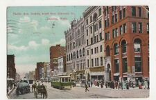 USA, Pacific Ave. from Eleventh Street, Tacoma, Wash. 1908 Postcard, B226