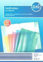 30 Hefthüllen DIN A4 transparent PP-Folie 5-farbig