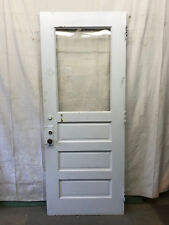 "Single Tall Door Interior Glass Architectural Salvage School 35-3/4""x90"