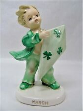 Vintage Lefton March Irish Boy w/ Kite Figurine x252