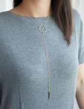 Circle Bar Gold Necklace
