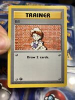 1st edition Pokemon Trainer Bill Base Set Shadowless Card 91/102 1999 Rare Wotc