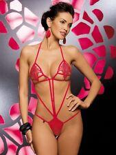 Luiza Teddy Red S/M Bodysuit Damenbody Dessous Reizwäsche Catsuit