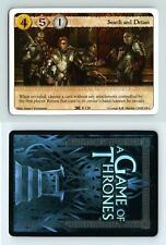 Search And Detain #F 120 A Game Of Thrones Here To Serve 2010 LCG Card