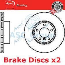 2 X Apec BRAKING 324mm Belüftet OE Qualität Ersatzteil Bremsscheiben (Paar)