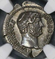 134 HADRIAN NGC AU Roman Empire Denarius Felicitas 5/5 5/5 (18082602C)