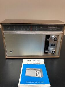 Panasonic AM-FM Table Radio Model RE-7329 with Manual