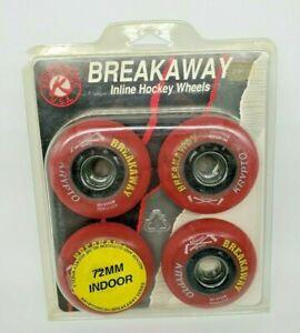 Kryptonics USA Breakaway Inline Hockey Wheels Vintage In Package 72mm 4 pack
