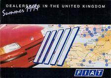 Fiat Dealer List Summer 1994 UK Market Foldout Brochure