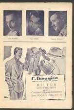 Programme Ateneo Theater Louis Jouvet Company 1942
