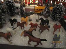 "Train House Village Carnival Zoo "" Multi-Piece Horses Set ""+ Dept 56/Lemax info!"